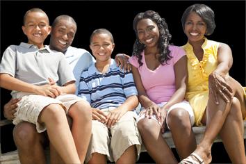 photo famille détourée