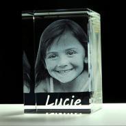 Bloc rectangulaire en verre 3D