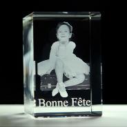 Bloc rectangulaire en verre