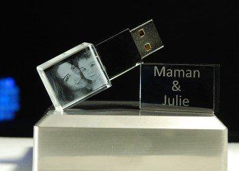 Clé USB LED blanche
